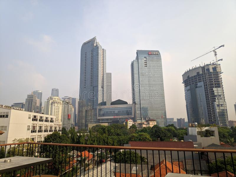L'Ambassadeur Rooftop de Kuningan image libre de droits
