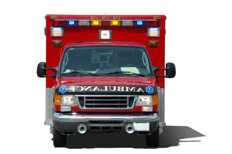 L'ambulance ssolated sur un blanc photo stock