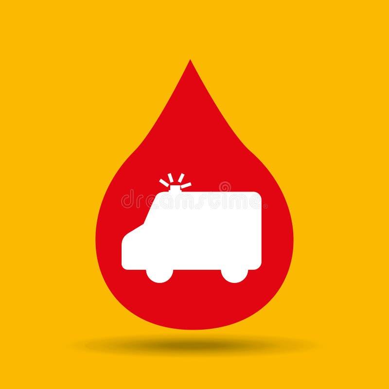 l'ambulanza di emergenza passa a cura l'icona medica illustrazione vettoriale