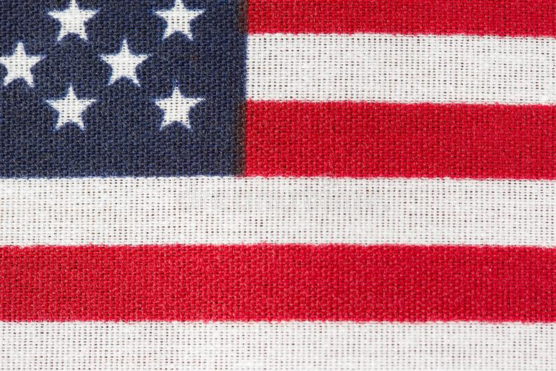 L'America, bandiera americana, stelle e strisce si chiude su fotografie stock