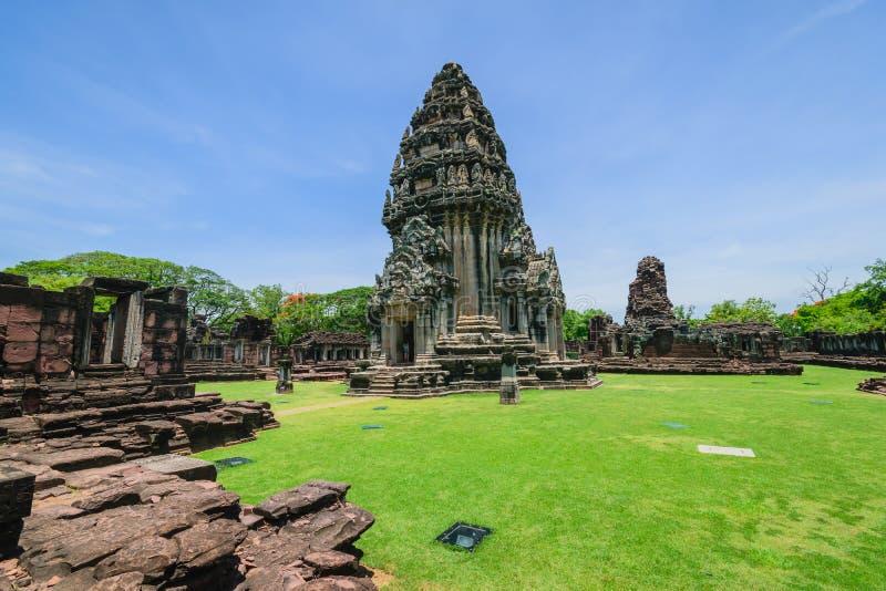 L'AMI de phi de Prasat Hin, sanctuaire historique de Khmer de Phimai de parc, un du sanctuaire religieux important, korat, Thaïla photographie stock