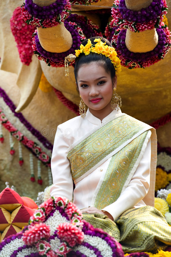 l'AMI Thaïlande de fleur de festival de chiang photo libre de droits