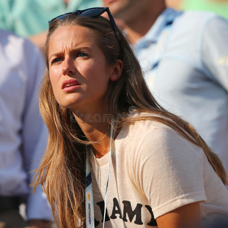 L'amica Kim Sears di Andy Murray all'US Open 2014 a Billie Jean King National Tennis Center immagini stock libere da diritti