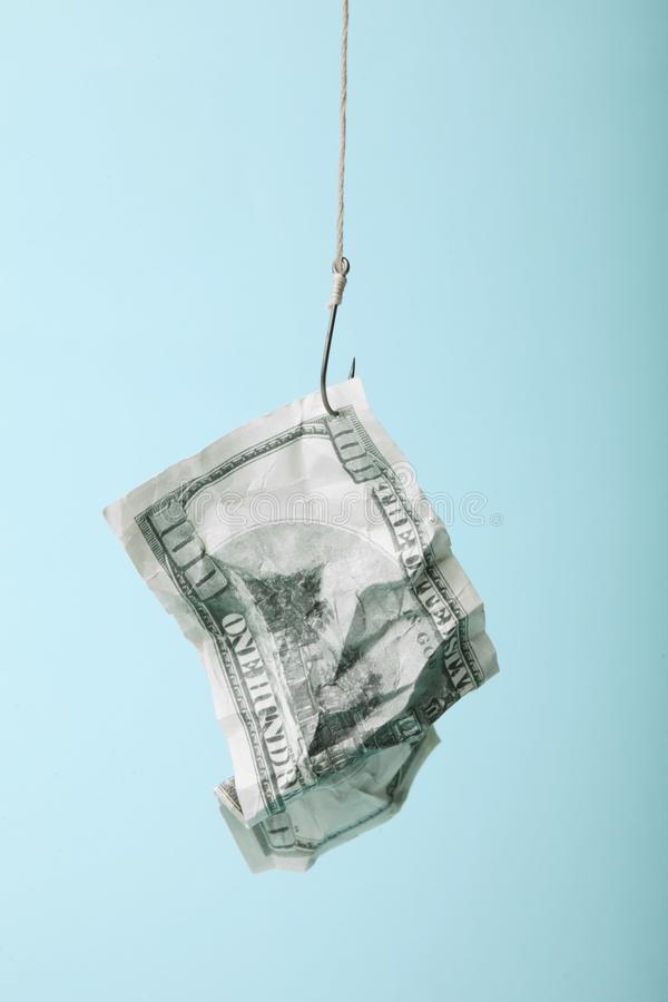 L'amorce d'argent a emprisonn? R?ussite commerciale et danger D?pendance de dette image libre de droits