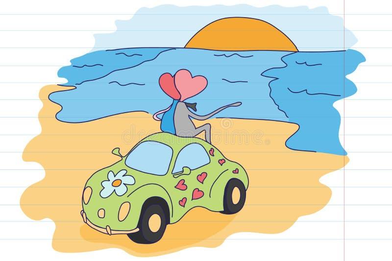 L'amore è… indicatore di rosa su fondo bianco ` S dei bambini che attinge il taccuino della scuola St Giorno del ` s del bigliett immagini stock libere da diritti