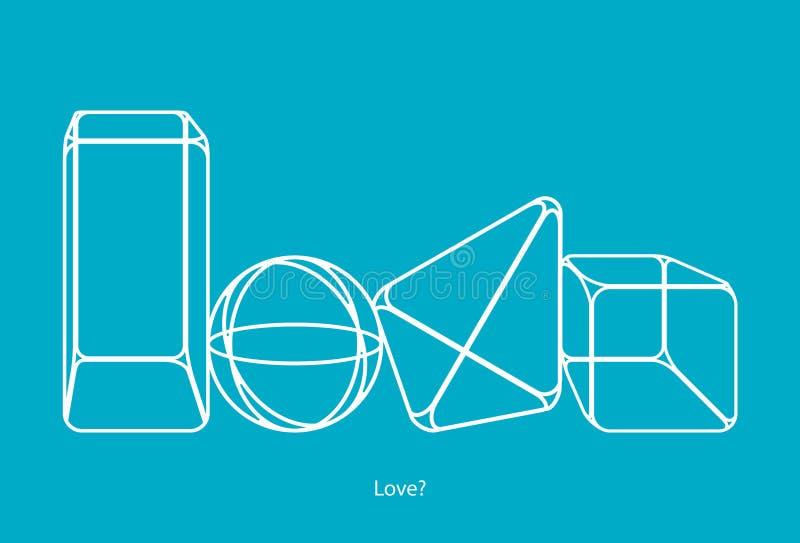 L'amore è forme fotografie stock