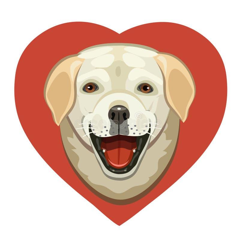 L'amore dei cani Labrador illustrazione di stock