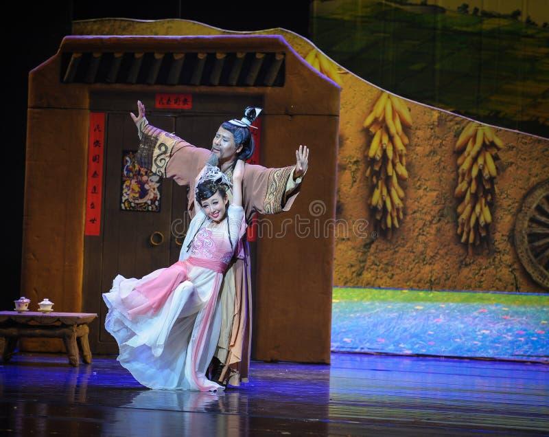 L'amore del padre gradisce una luna di balletto della montagna-Hui sopra Helan immagini stock