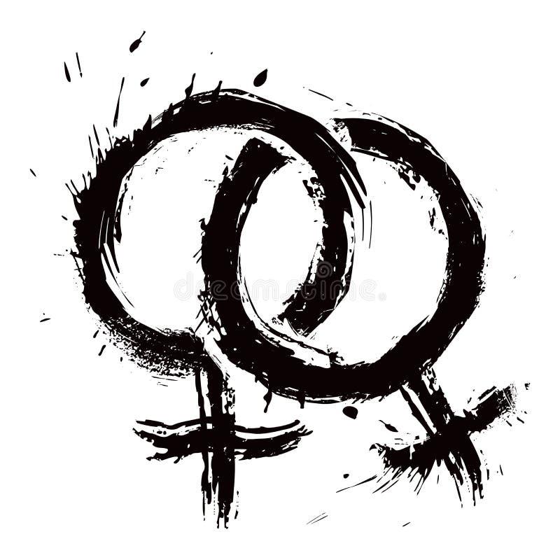 L'amore della donna omosessuale illustrazione vettoriale