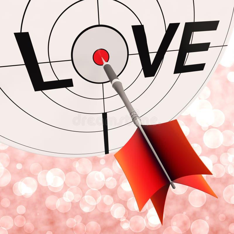 L'amore mostra l'impegno fra gli amanti e le coppie illustrazione vettoriale