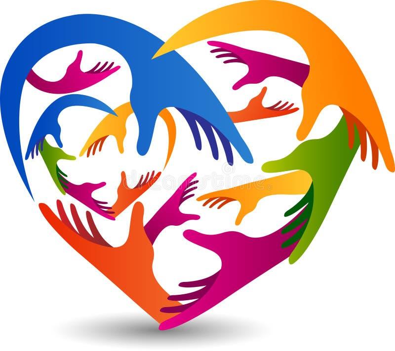 L'amore passa il logo illustrazione di stock