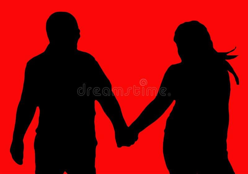 L'amore per sempre sta camminando immagine stock libera da diritti