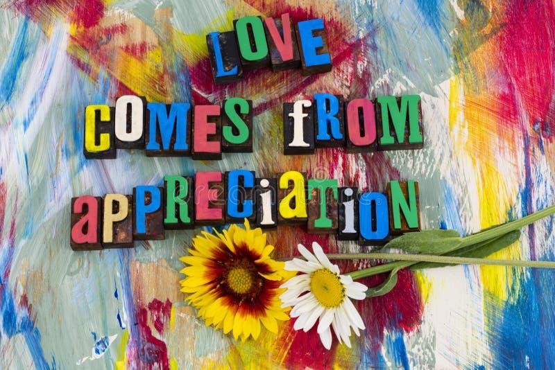 L'amore viene da godimento di apprezzamento fotografia stock libera da diritti