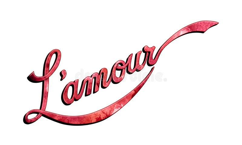 L'amour红磨坊词艺术 皇族释放例证