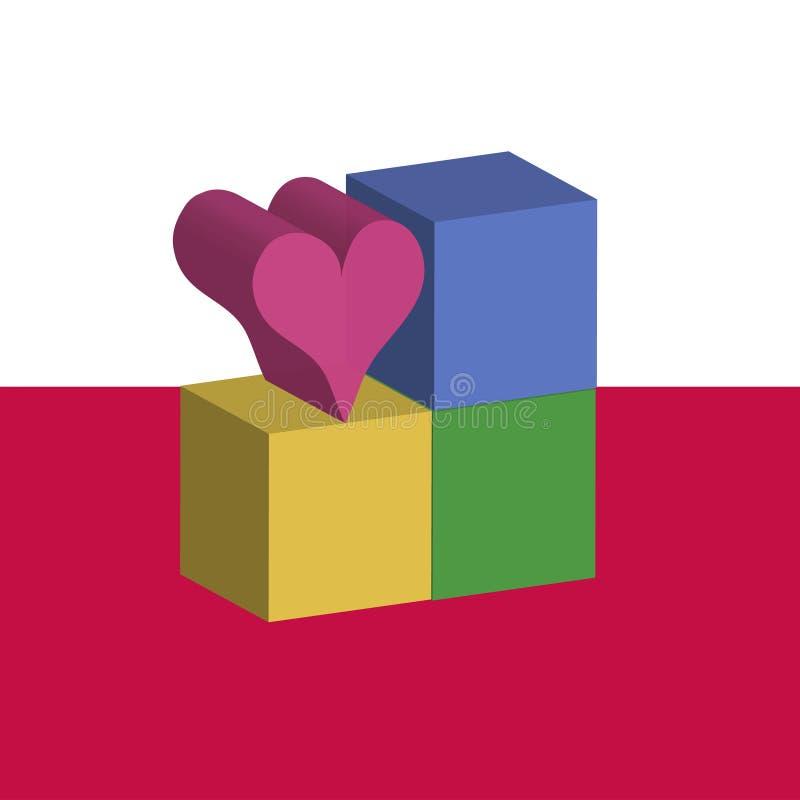 L'amour bloque l'original illustration de vecteur