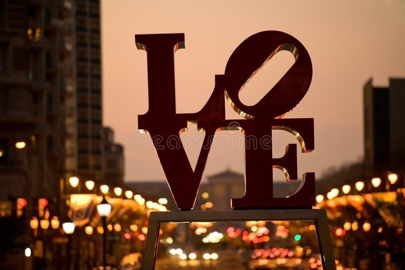 L'amour célèbre signent dedans Philadelphie image stock