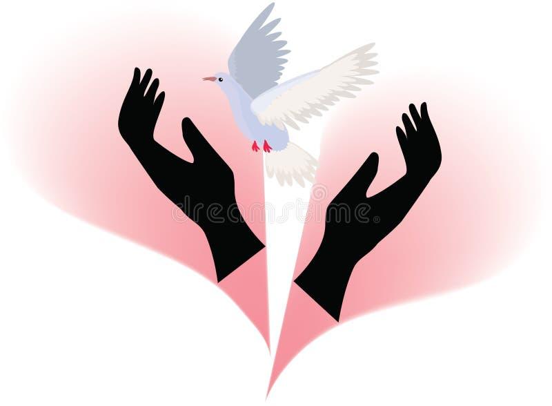 L'amour cassé illustration libre de droits
