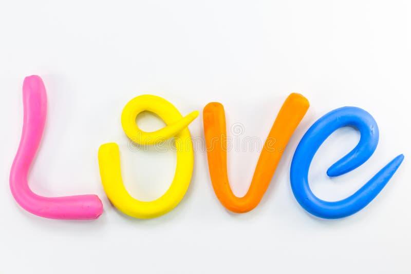 l'amour de mot dans l'alphabet coloré pour la valentine photographie stock