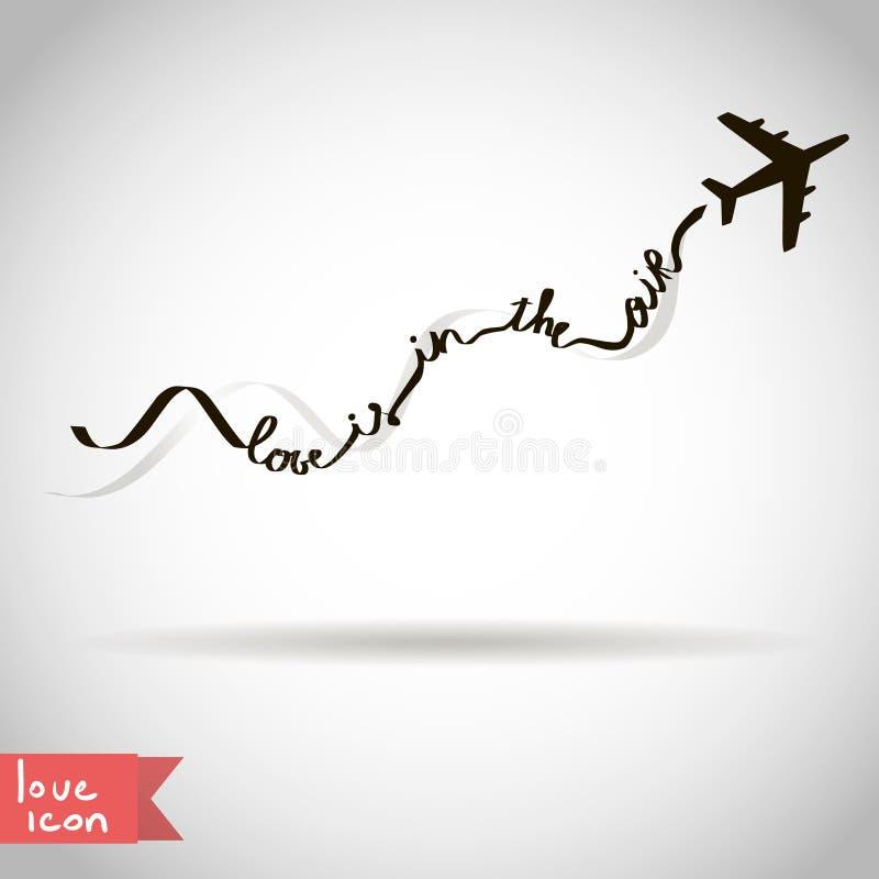 L'amour est dans l'icône de valentine d'air illustration stock