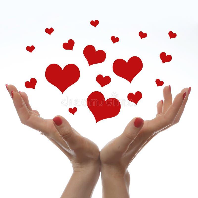 L'amour est dans le ciel images libres de droits