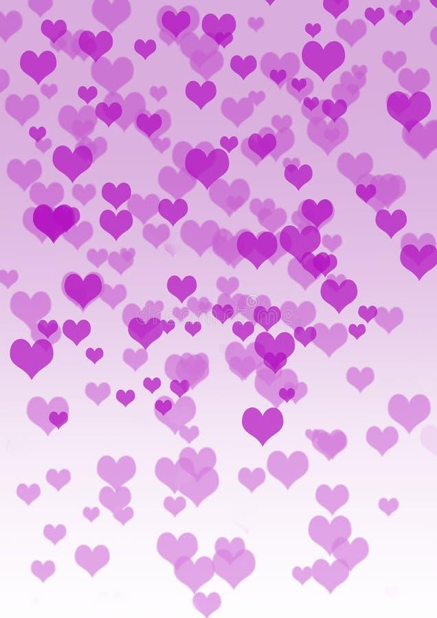 L'amour est dans le ciel, coeurs flottant aux nuances du rose images libres de droits