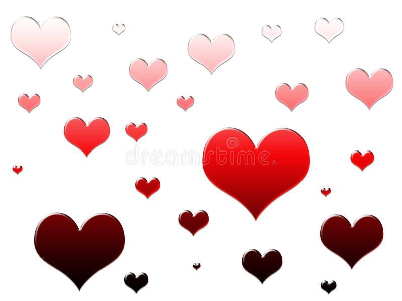 L'amour est tout autour illustration de vecteur