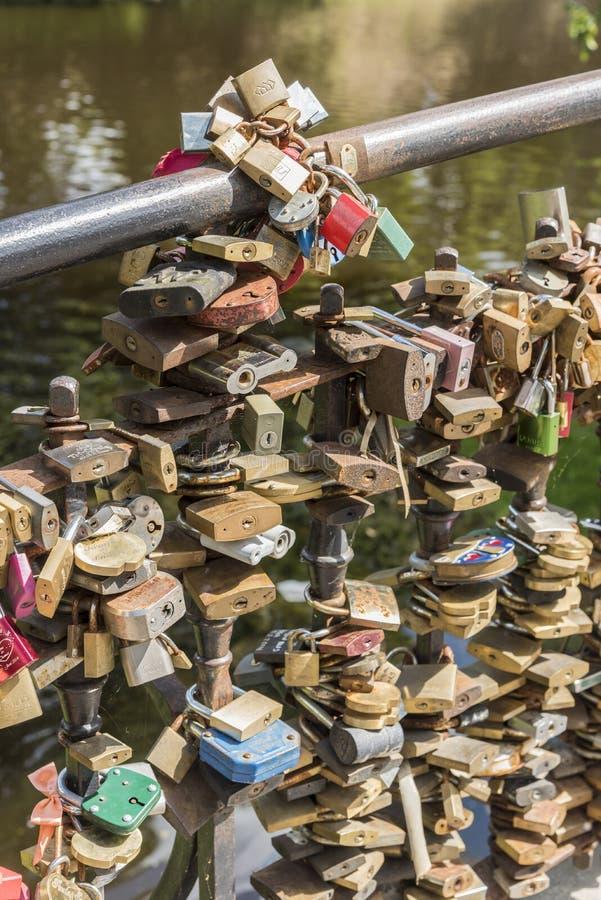 L'amour ferme à clef Riga image libre de droits