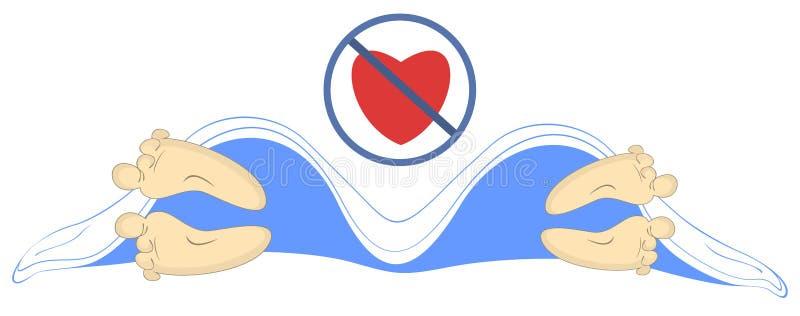 L'amour a l'illustration allée illustration de vecteur