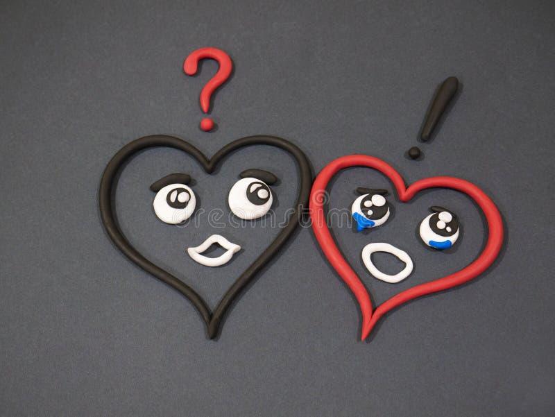 L'amour n'aime pas Larmes de bonheur Coeur de pâte à modeler photo libre de droits