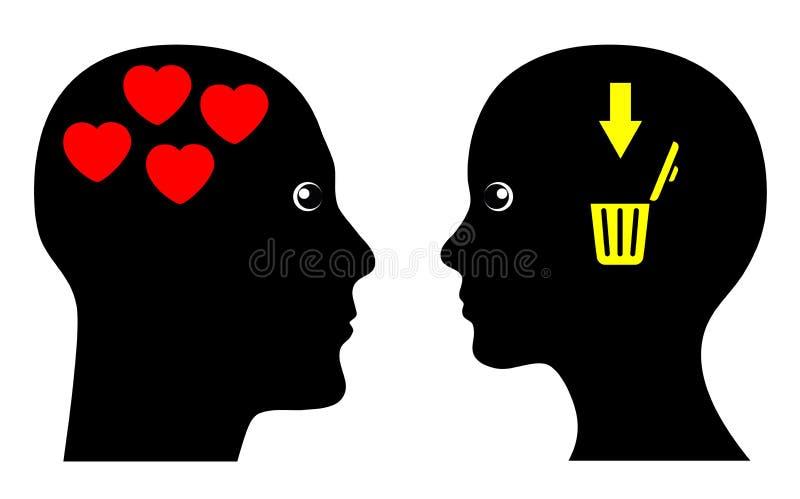 L'amour peut être cruel illustration stock
