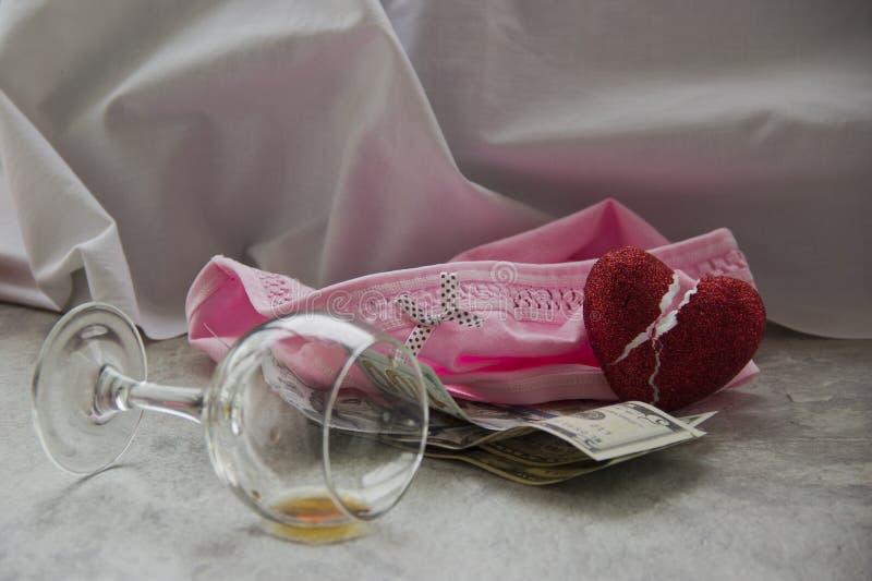 L'amour pour l'argent est prostitution photo stock