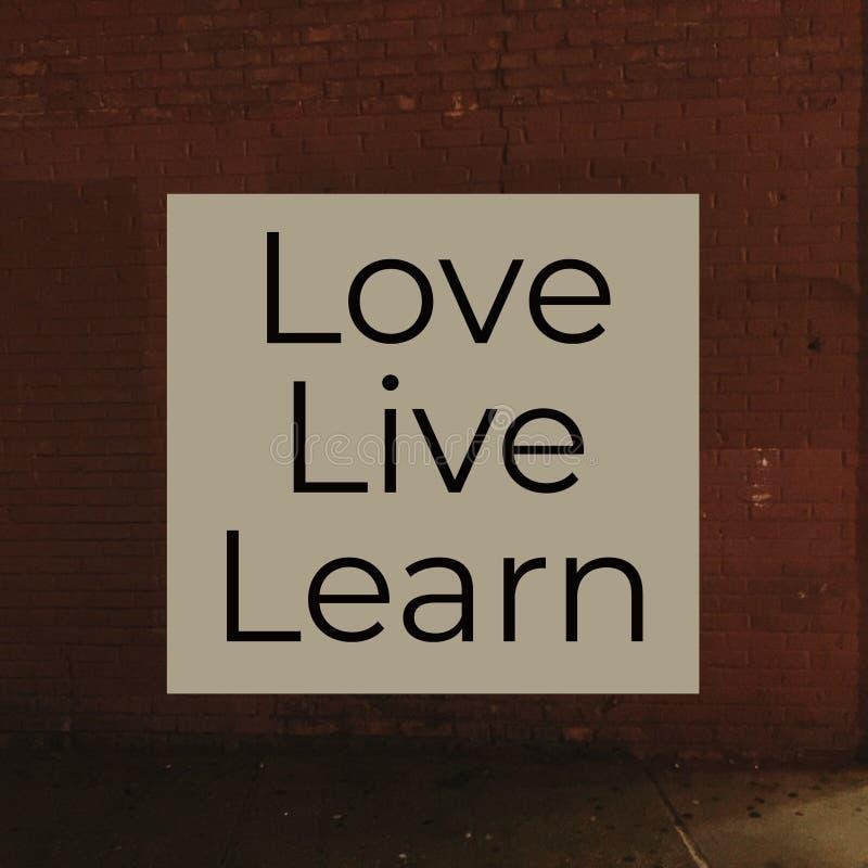 L'amour vivant apprennent illustration de vecteur