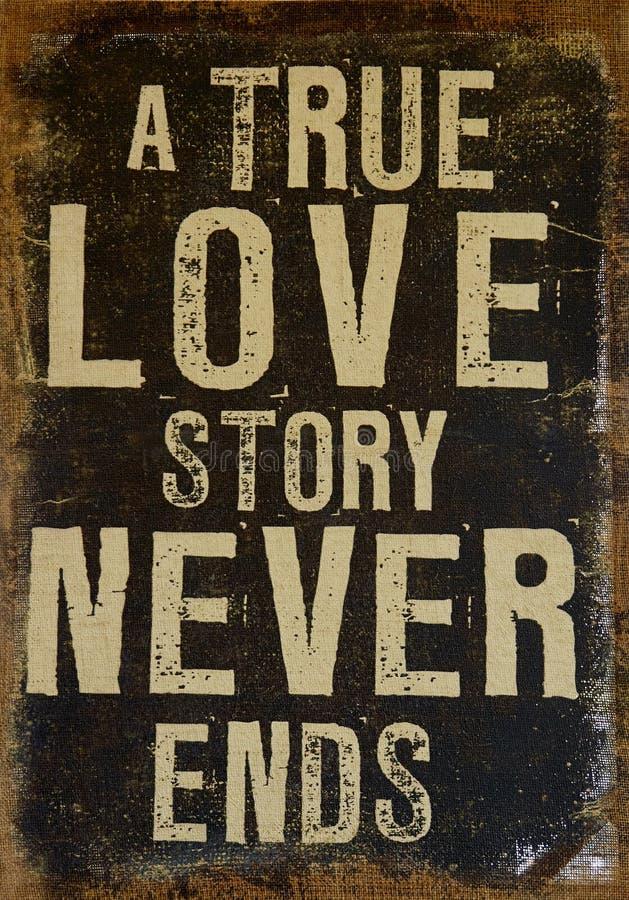 L'amour vrai ne finit jamais images libres de droits
