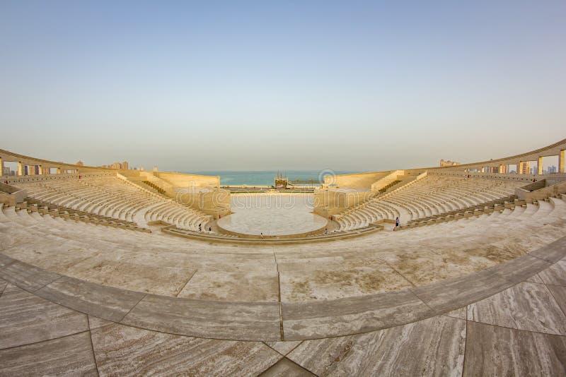 L'amphithéâtre dans le village culturel de Katara, Doha Qatar images stock