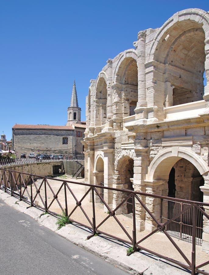 L'amphithéâtre des arles en Provence images stock