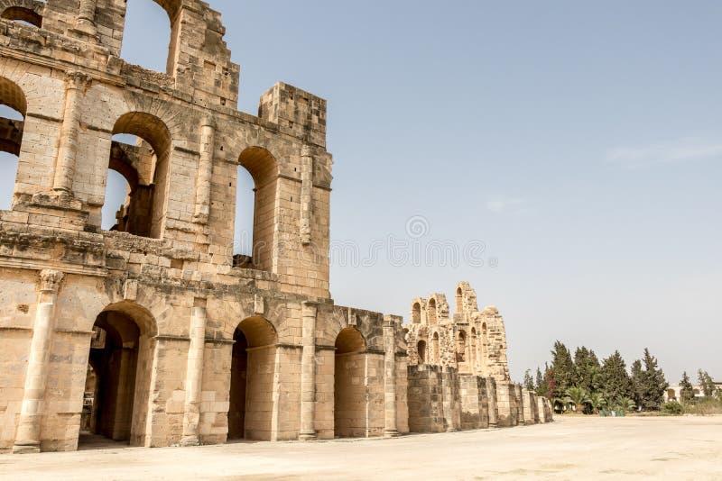 L'amphithéâtre romain de Thysdrus en EL Djem, Tunisie photographie stock