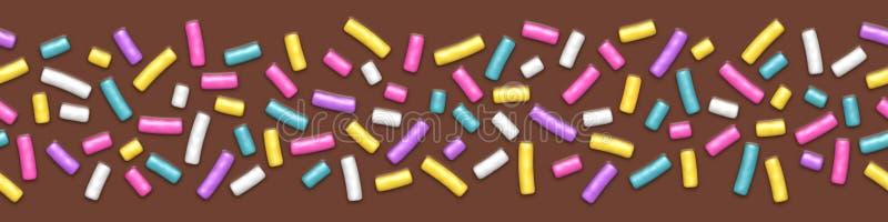 L'ampio fondo senza cuciture di cioccolato con spruzza illustrazione di stock