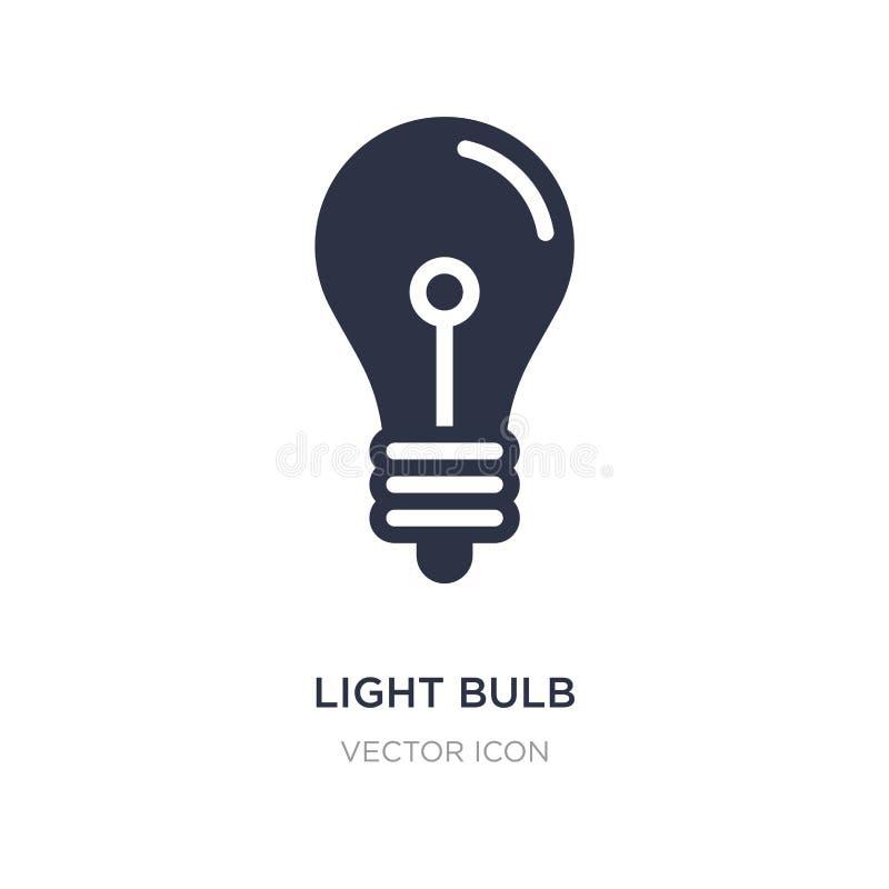 l'ampoule a arrêté l'icône sur le fond blanc Illustration simple d'élément de concept de technologie illustration libre de droits
