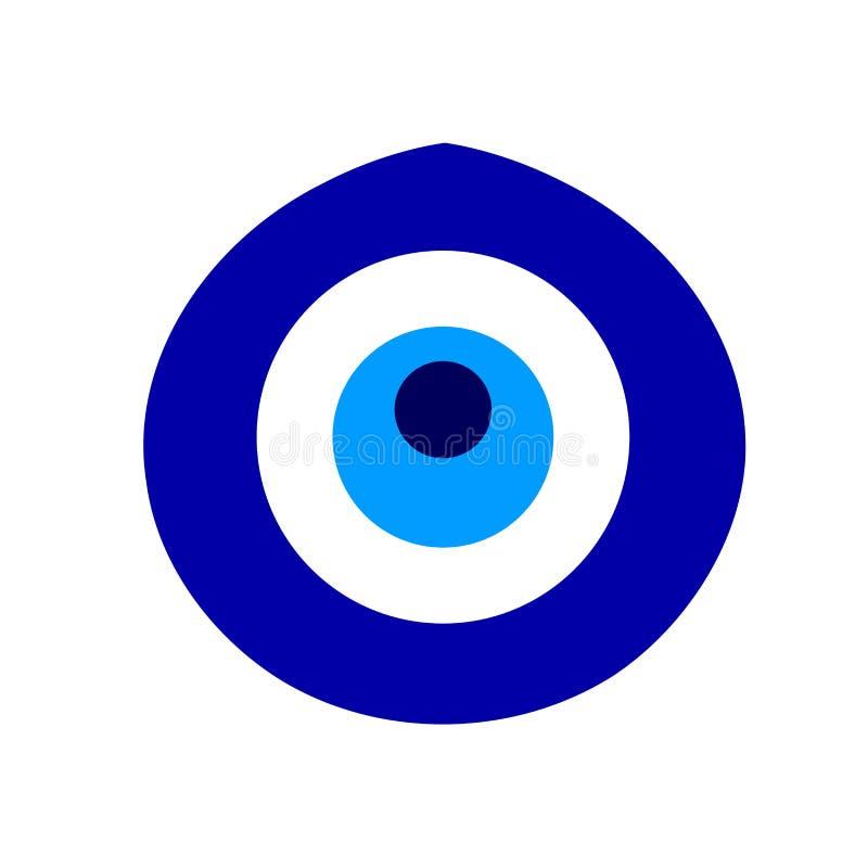 L'amuleto turco ha chiamato Nazar che significa la vista illustrazione di stock