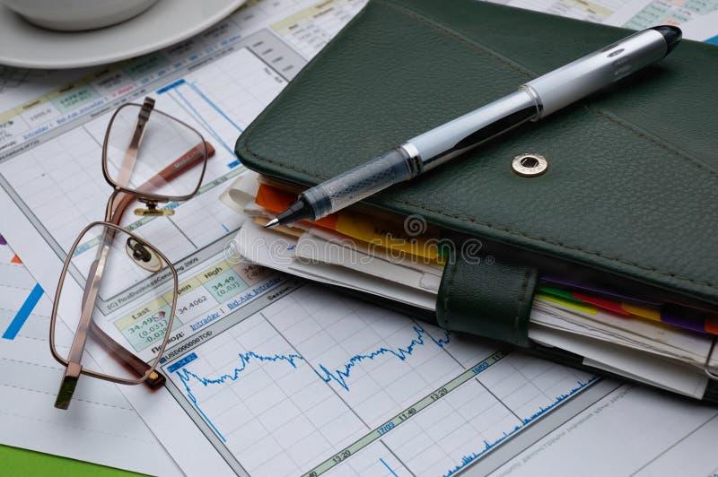 L'analyse financière. image libre de droits