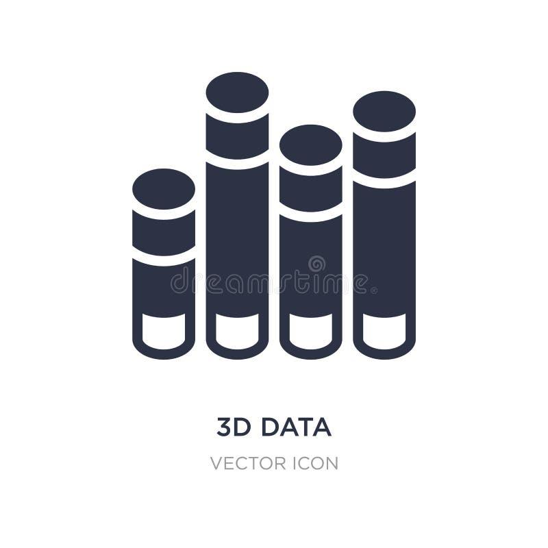 l'analytics des données 3d barre l'icône graphique sur le fond blanc Illustration simple d'élément de concept d'affaires illustration stock