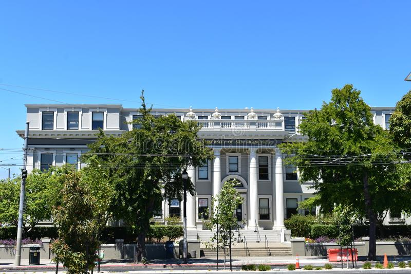 L'ancienne de Lincoln Law School pièce maintenant de l'université de San Francisco image libre de droits