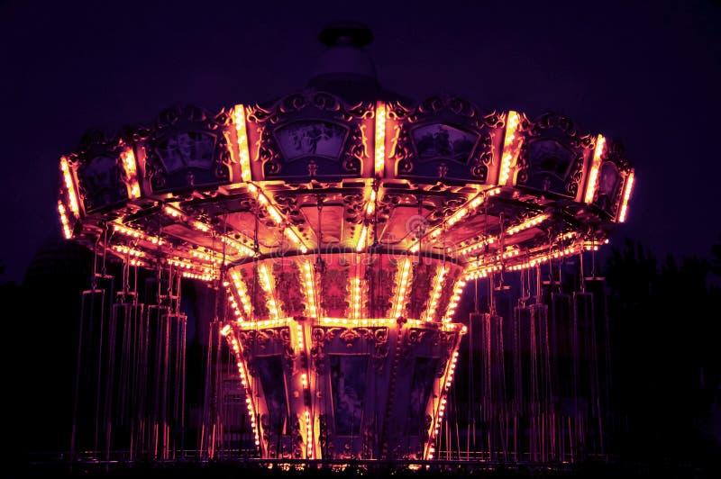 L'andatura gigante nella notte, ¼ ŒBeijing, Cina del parkï di divertimento di Shijingshan immagini stock