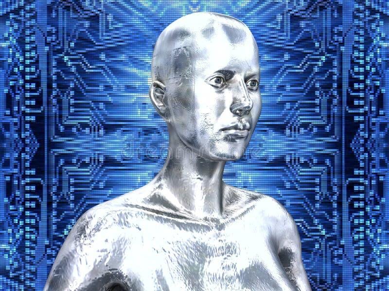 L'androïde indique la technologie de circuit interne illustration libre de droits
