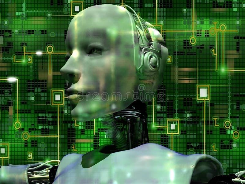 L'androïde indique la technologie interne illustration libre de droits