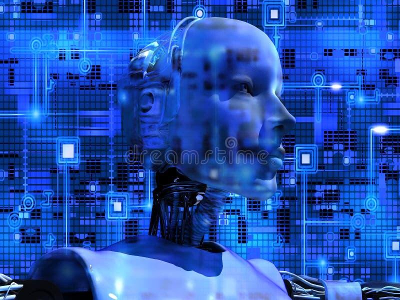 L'androïde indique la technologie interne illustration de vecteur