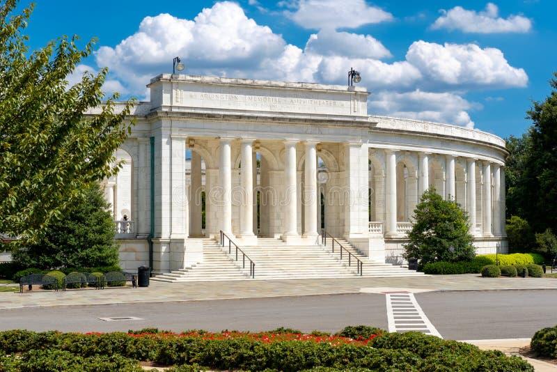 L'anfiteatro commemorativo di Arlington al cimitero nazionale di Arlington fotografie stock
