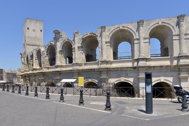 L'anfiteatro di Arles in Francia immagine stock