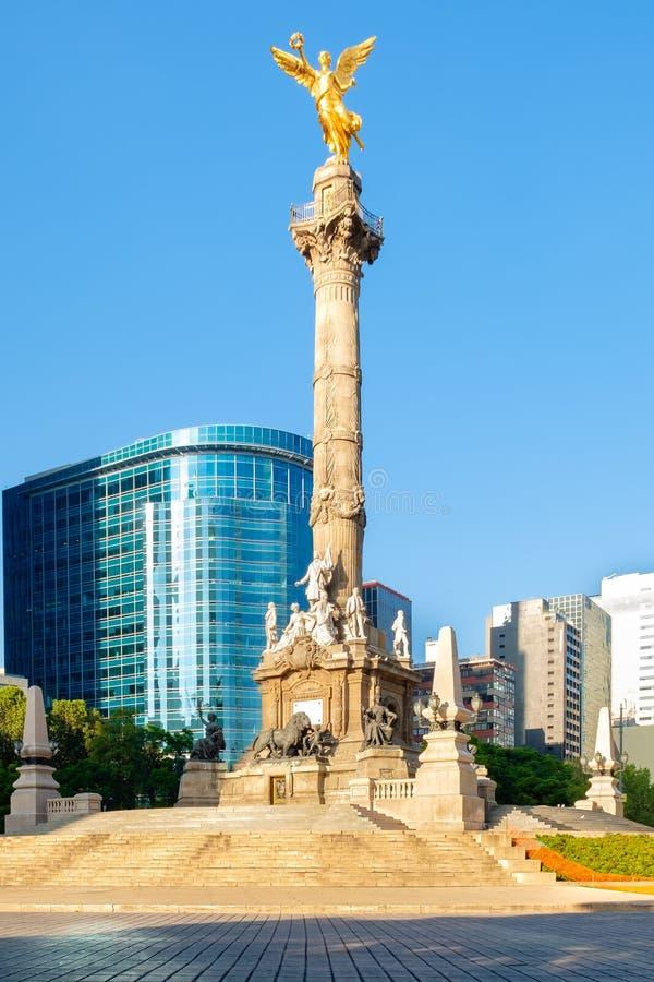 L'ange de l'indépendance chez Paseo de la Reforma à Mexico image stock