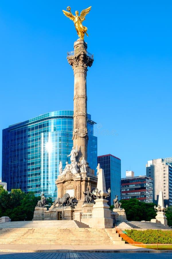 L'ange de l'indépendance, un symbole de Mexico photo libre de droits